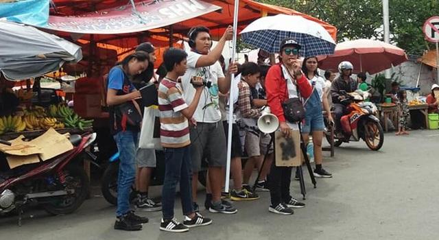"""Proses penggarapan film """"Jap Jap"""" di kompleks Pasar Tradisional Karombasan, Manado (Foto:IST)"""