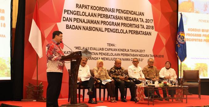 Wagub Steven Kandouw memaparkan kondisi perbatasan di Sulawesi Utara