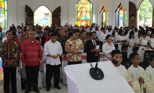 Resmikan Gereja Katolik di Melonguane, STEVEN KANDOUW Mengumpamakan seperti Uang