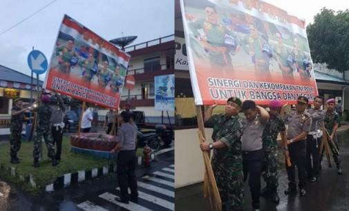 Tunjukkan Kekompakan, Ini yang Dilakukan TNI dan Polisi di Bitung