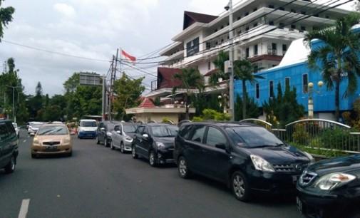 Ini Penyebab Kemacetan Di Depan Kantor Wali Kota Manado