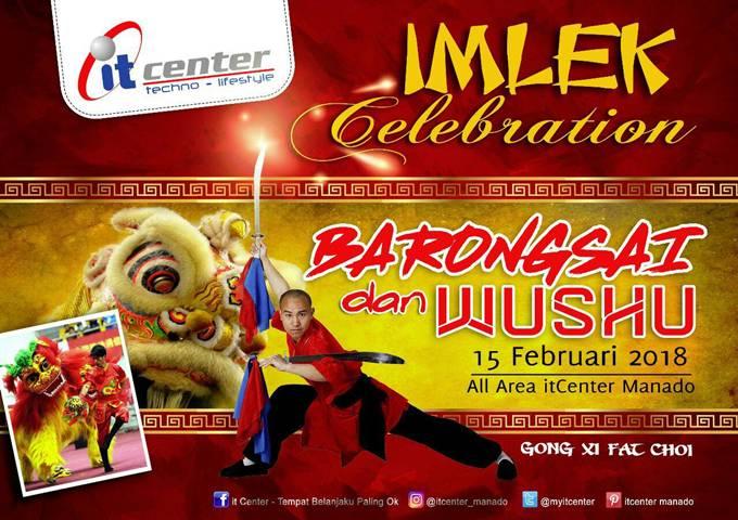 Barongsai dan Wushu di itCenter Manado