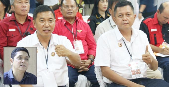 Calon Bupati dan Wakil Bupati James Sumendap-Jocke Legi. Inzet: Taufik Tumbelaka