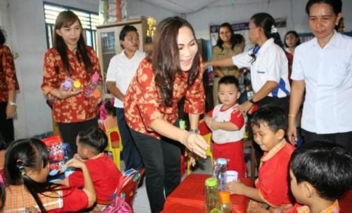 Valentine Day, DPW Bitung Berbagi Kasih Sayang dengan Anak PAUD dan TK