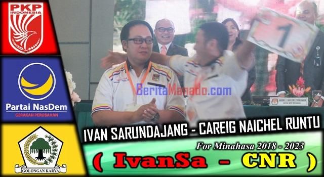 Ekspresi berbeda dari Ivan Sarundajang dan Careig Runtu usai pengundian nomor urut pasangan calon