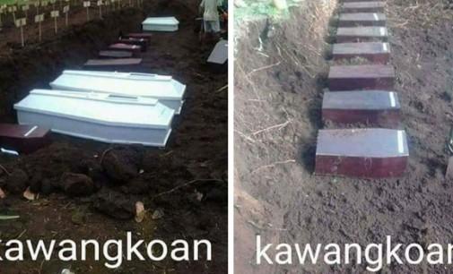 Wah… Heboh Foto Kuburan Massal di Desa Kawangkoan Minut