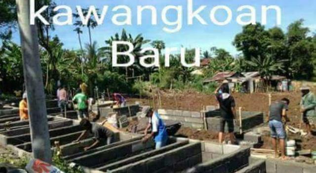Foto kondisi pembangunan lokasi kuburan diduga berada di Desa Kawangkoan Baru.