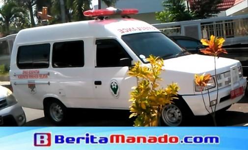 Dinkes Minsel Serahkan Ambulance Jenazah ke RSUD Amurang
