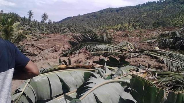 Longsor di Desa Blongko