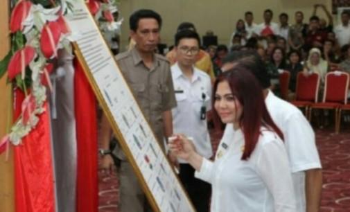 Bupati VONNIE PANAMBUNAN Komit Dukung Program Pemberantasan Korupsi