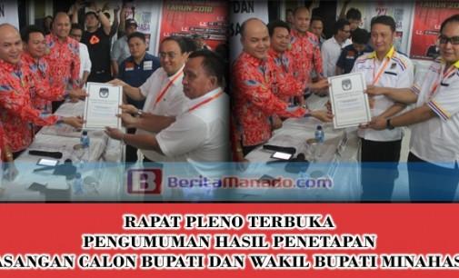 KPU Resmi Tetapkan Pasangan Calon di Pilkada Minahasa