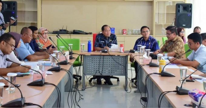 Wali kota saat pimpin rapat persiapan kunjungan Dewan KEK Nasional
