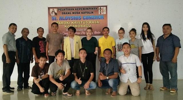Pemuda Katolik Komda Sulut dan Pengurus Pemuda Katolik Komcab Kotamobagu. (Foto:IST)