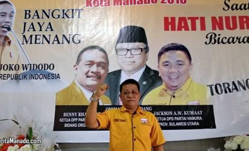 Kader GOLKAR Ini Pindah dan Jabat Ketua HANURA Manado