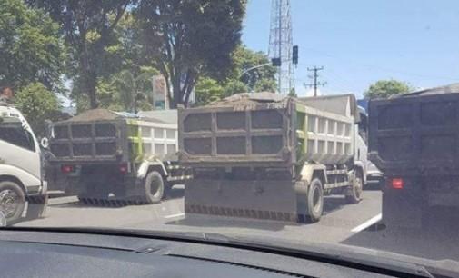 """Truck Pasir Makin """"Menggila"""" di Jalan, Satlantas Polres Bitung Lakukan Ini"""