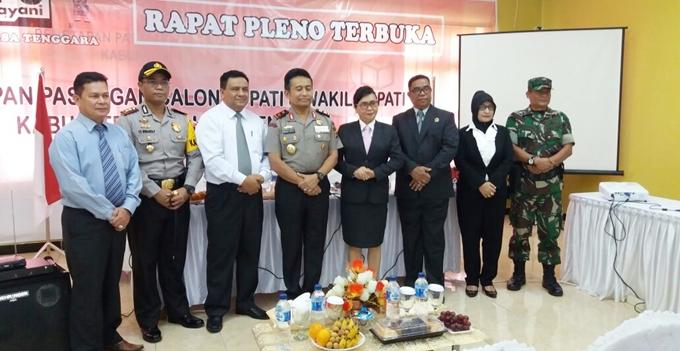 Kapolda bersama komisioner KPU dan Panwas Mitra