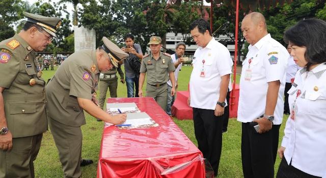 Serah terima jabatan Kasat Pol PP Sulut