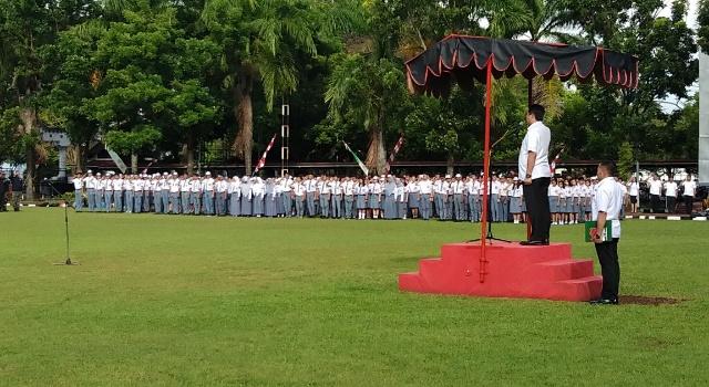 Upacara peringatan Hari Merah Putih di Kantor Gubernur Sulut