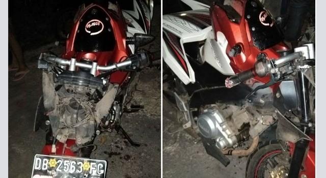 Motor korban lakalantas di Kauditan.