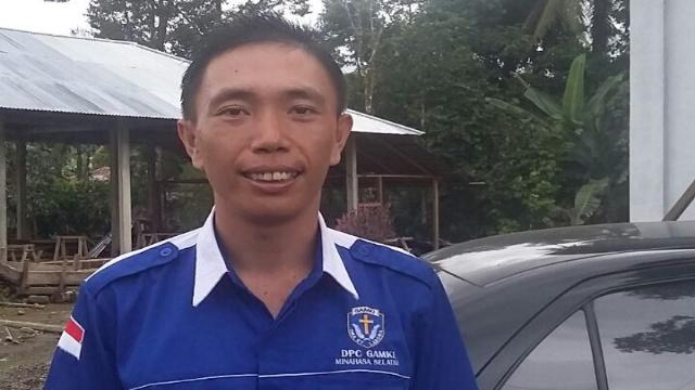 Ketua DPC GAMKI Minsel Kristy Alfons Sumual, S.IP