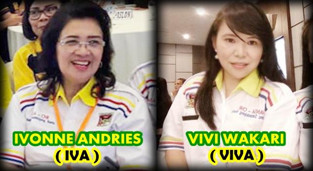 Ivonne Andries dan Vivi Wakari