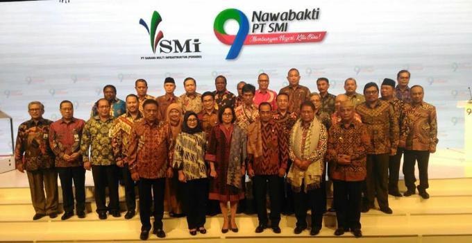 Gubernur Olly Dondokambey bersama beberapa menteri yang diundang PT SMI