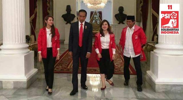 Pengurus DPP PSI bersama Presiden RI Ir Joko Widodo di Istana Merdeka Jakarta. (Foto:IST)