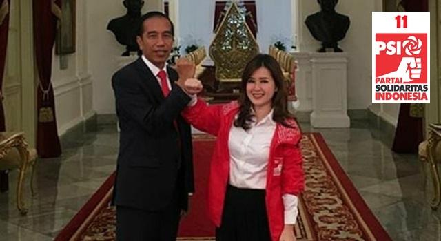 Ketua Umum DPP PSI Grace Natalie bersama Presiden RI Ir Joko Widodo. (Foto:IST)