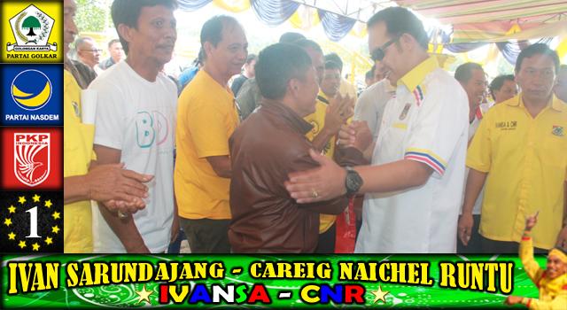 Careig Naichel Runtu disambut para pendukung dan simpatisan