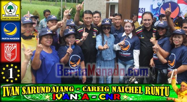Ivan Sarundajang dan Careig Naichel Runtu bersama kader dan simpatisan Partai NasDem