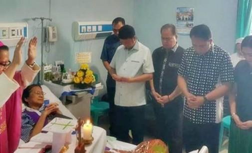 Uskup ROLLY UNTU MSC Pimpin Perayaan Ekaristi di RS Gunung Maria Tomohon