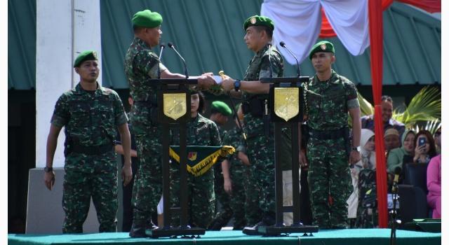 Pelaksanaan serah terima pasukan
