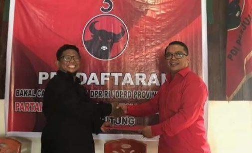 Akhirnya Sekretaris DPC PDI P Bitung Daftar Bacaleg 2019