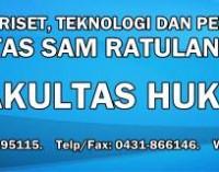 Informasi Penerimaan Mahasiswa Baru Fakultas HUKUM TA 2018/2019 Universitas SAM RATULANGI MANADO