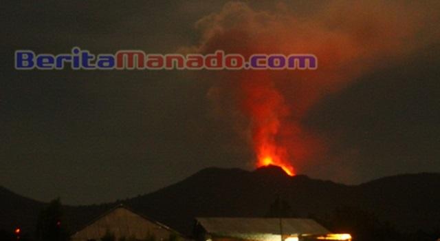 Erupsi Gunung Soputan 9Maret 2015
