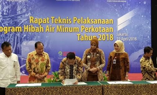 Wali Kota Bitung Terima Program Hibah Air Minum Perkotaan APBN 2018