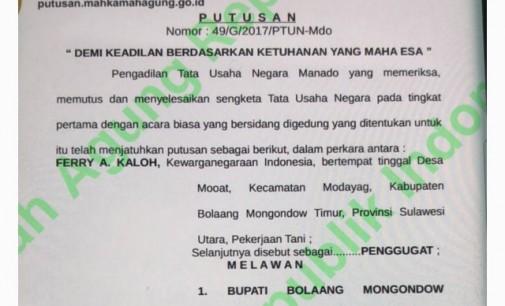 Sudah Menang di PTUN Manado, Firman Mustika Pastikan Pemkab Boltim Siap Hadapi Banding