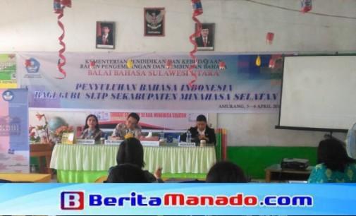 Balai Bahasa Sulut Sosialisasi Guru SLTP Minsel