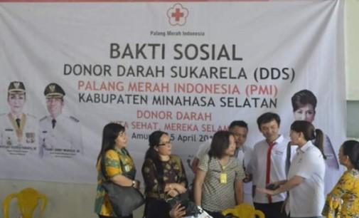 MICHA PARUNTU Pimpin Donor Darah, Bantu Stok Darah PMI Sulut