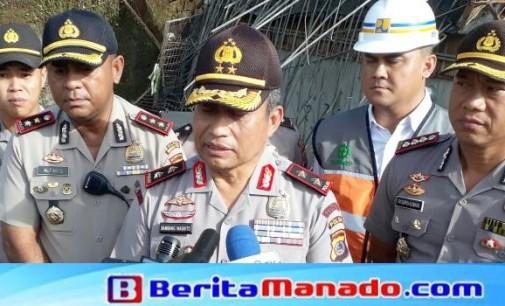 Polda Sulut Police Line TKP, Hentikan Proses Pembangunan Overpass Jalan Tol