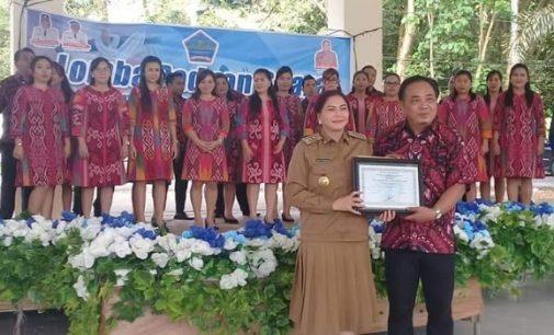RSUD Walanda Maramis Jawara Paduan Suara Pemkab Minut, Kecamatan Dimembe Runner Up