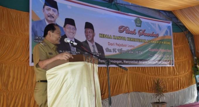 Wali kota saat hadir di pisah sambut