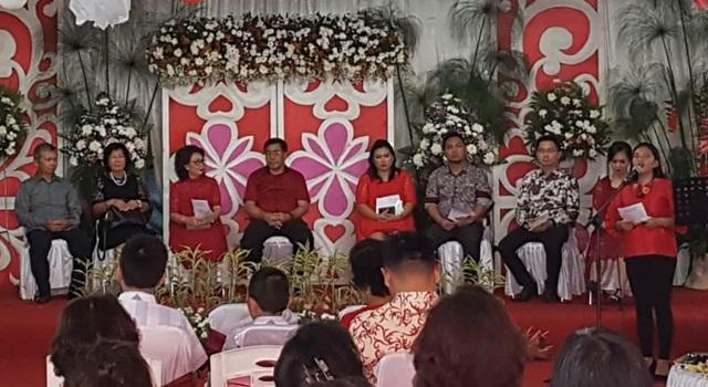 Suasana ibadah syukur HUT ke-56 Ketua TPPKK Minahasa Helly Grace Mewoh-Pongoh SE