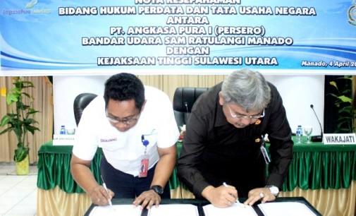 PT Angkasa Pura I Bandara Sam Ratulangi Dan Kejati Sulut Sepakati Hal Ini Terkait Urusan Hukum