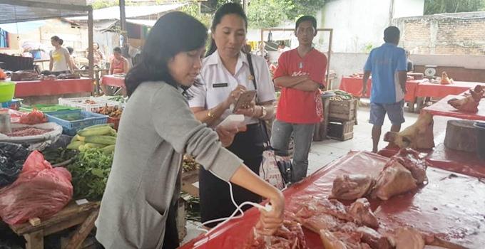 pemeriksaan kualitas daging babi melalui pengukuran PH