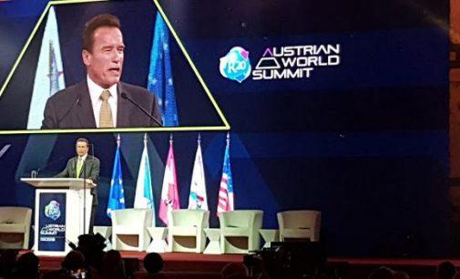 OLLY DONDOKAMBEY dan ARNOLD SCHWARZENEGGER Hadiri R20 Austrian World Summit