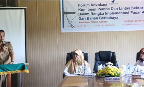 BB POM Manado Implementasikan Pasar Aman Dari Bahan Berbahaya di Tomohon