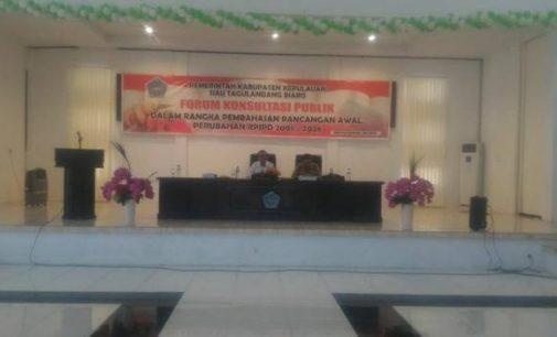 Forum Konsultasi Publik Perubahan RPJPD 2008-2028 Kabupaten Sitaro Hasilkan Kesepakatan