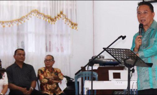 Ibadah Hapsa P/KB Wilayah Tomohon IV, Eman Sebut Momentum Kebersamaan