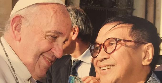 Pdt Renata Ticonuwu, Walian Wangko BMI saat beraudensi tentang Kerukunan dan Toleransi di Indonesia kepada Sri Paus di Takhtta Suci Vatikan beberapa waktu lalu.